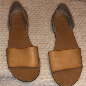 Brown leather sandals in size 9